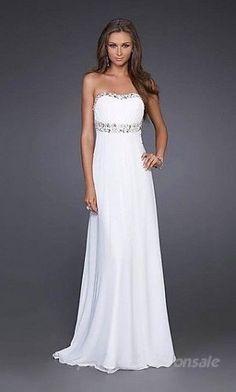 Vestido blanco corte Imperio