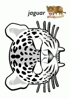 children activities, more than 2000 coloring pages Jungle Crafts, Zoo Crafts, Animal Masks For Kids, Mask For Kids, Printable Masks, Printables, Animal Jaguar, Safari, Rainforest Theme