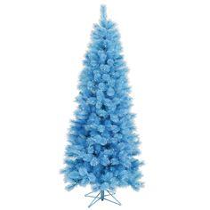 7.5\' Baby Blue Tree w/ Blue Lights