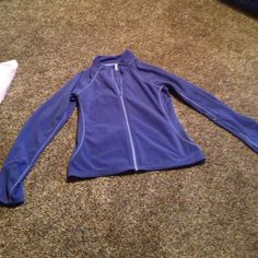 Blue fleece zip up Only worn a few times, great condition, made with holes to put your thumbs through, light weight, great for working out Everlast Tops Sweatshirts & Hoodies