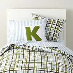 boys bedding plaid and striped kids bedding in duvet covers