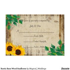 Rustic Barn Wood Sunflower