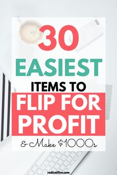 Want to make money flipping items? Get them at garage sales or yard sales for cheap and resell them. Make more money starting TODAY by learning errrthing about buying, flipping, and selling. Here are the best items to flip for profit, to make money buying and flipping. Make extra money with this great side hustle starting today! #reselling #makemoney #flipping #personalfinance #radicalfire Money Tips, Money Saving Tips, Money Hacks, Budgeting Finances, Budgeting Tips, Make Money From Home, Way To Make Money, Dividend Investing, Wealth Creation