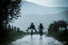 Despite the biblical rainfall riders were still enjoying themselves.