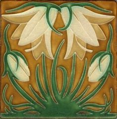 Tile works series - Ladybell series - Green Oak colorway from Mission Tile West