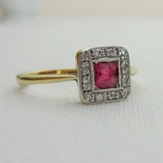vintage ruby engagement rings - Google Search