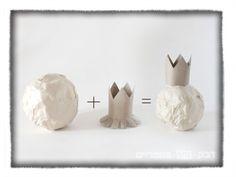 DIY pomegranate paper mache
