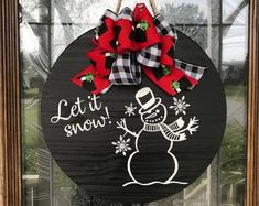 Door Hangers, Hand Turned Wood Products and Home Decor by PappysTraditions Snowman Decorations, Christmas Decorations, Christmas Ideas, Christmas Projects, Christmas Stuff, Christmas Ornaments, Wood Hanger, Hangers, Snowman Door