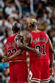 Jordan e Rodman - Chicago Bulls