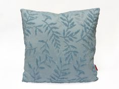Luxury Blue Velvet Pillow, throw pillow, decorative pillow, designer pillow, custom pillow, scatter pillow, 18x18, leave decor, - pinned by pin4etsy.com