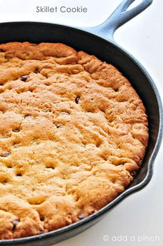 favorite desserts to make while we are camping is a great big skillet cookie. They are so easy to prepare and always make a much welcomed dessert. I first started making my skillet cookies while camping when Little Buddy was four years old. We were on a trip to Walt Disney World