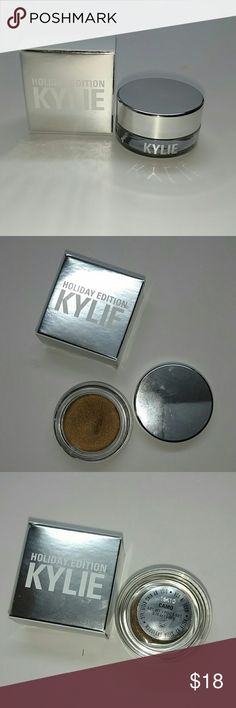 Authentic Kylie creme shadow 200% Kylie creme shadow color Camo from the Holiday collection. I have proof of purchase. Brand new never used. Bundle and save. Trusted seller Fast shipping Kylie Cosmetics Makeup Eyeshadow