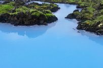 A visit to the Blue Lagoon Geothermal Spa would be great for after horse riding. Look at that blue...