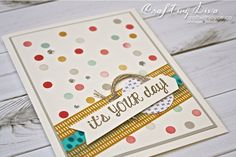Rainbow dot technique, Stampin' Up - It's your day! - Joyce Fowler