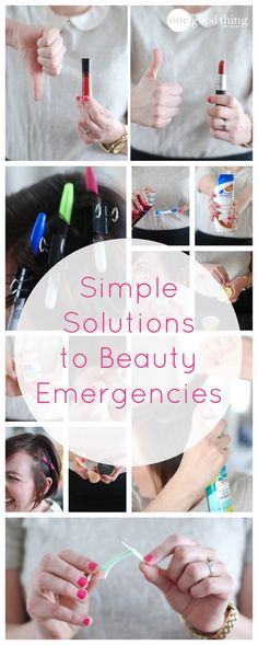 You never know when you'll need one of these simple solutions! Fix flat hair, soothe skin problems, fix cracked pressed powder and more!