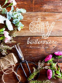 Boutonniéres add a colourful touch to the groom and his groomsmen and are a great way to bring your floral theme into their look. Learn how to make your own beautiful buttonholes with our six-step quick DIY!