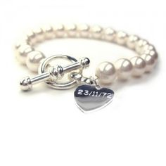 This personalised bracelet is a great bridesmaid gift or even a gift for the bride with your special date on the heart charm