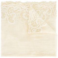 "Faliero Sarti ""Malindi"" Stole (€305) ❤ liked on Polyvore featuring accessories, scarves, ivory, faliero sarti, faliero sarti scarves, cotton scarves, cotton shawl and ivory shawl"