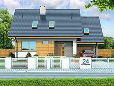 Projekt domu Lisandra XS 107,24 m2 - koszt budowy - EXTRADOM Agility Ladder Drills, Futuristic, House Design, Mansions, House Styles, Outdoor Decor, Home Decor, Small Houses, Arquitetura