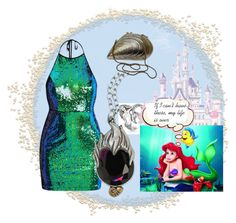 """Wishes of Ariel"" by andrea-pok ❤ liked on Polyvore featuring York Wallcoverings, Bling Jewelry and Disney"