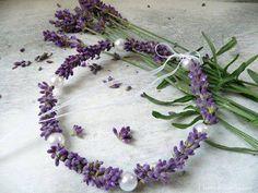 Lavender:  #Lavender and pearl bracelet.