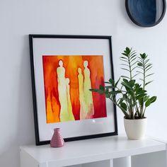 Print, Wall Art Print of Original Aquarell Painting, Original contemporary art, wall decor Printable Wall Art, Wall Art Prints, Contemporary Art, Wall Decor, The Originals, Unique Jewelry, Frame, Handmade Gifts, Painting