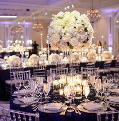 Photo: Eli Turner Studios; Wedding reception centerpiece idea;