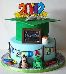 Daycare grad cake por Cocoa Claudia