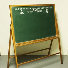 Vintage Chalkboard - Cass Toys - With Easel - Two Sided - Large