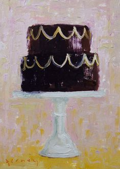 "Can't stop drooling over ""Let Them Eat Cake"" oil painted series by Paul Ferney."