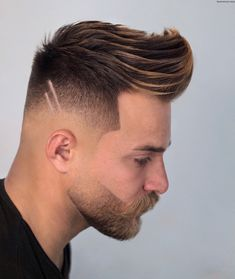 Check out these cool and modern ways to wear the quiff haircut. Add a peak to a pompadour, spikes or any fade haircut for men. Mens Modern Hairstyles, Cool Hairstyles For Men, Creative Hairstyles, Cool Haircuts, Haircuts For Men, Up Hairstyles, Men's Haircuts, Blond, Types Of Fade Haircut