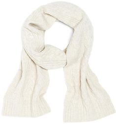 ff9858520da Brooks Brothers Saxxon Cable Knit Scarf in White for Men (ivory) - Lyst  Brooks