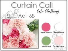 Stacey's Stamping Stage: Curtain Call Color Challenge: {ACT 68} Melon Mambo, Pink Pirouette, Wild Wasabi