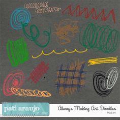 Desenhos Sempre fazendo arte (PU/S4H) by Pati Araujo