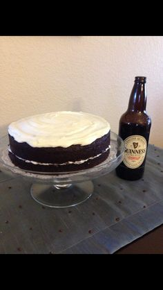 I made this Guinness chocolate stout cake today! It turned out really good! I usually don't like chocolate cake, but my mom wanted me to make it for a little gathering. A little piece goes a long way! I made it from a recipe I pinned to my desserts board.