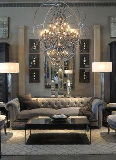 Glam Living Room, Elegant Living Room, Formal Living Rooms, Living Room Modern, Interior Design Living Room, Living Room Designs, Cozy Living, Small Living, Interior Livingroom