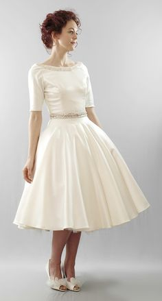 Gorgeous. Imagine Audrey Hepburn in this dress. Christy from Alexandra King Bridal.