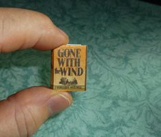 GONE WITH the WIND Dollhouse Miniature Book by MiniatureBookstore