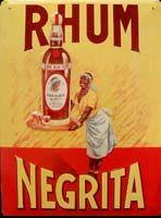 Rhum NEGRITA Plaque publicitaire métal 40x30 cm