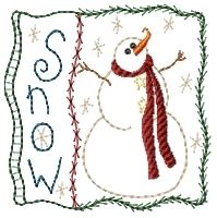 Christmas Squares Sampler Set - 4x4 | Primitive | Machine Embroidery Designs | SWAKembroidery.com HeartStrings Embroidery