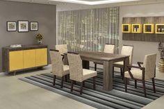 Sala de Jantar Completa Hórus Divider, Room, Furniture, Home Decor, Decorating Ideas, Homemade Home Decor, Rooms, Home Furnishings, Decoration Home