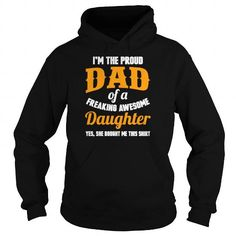 Personalized Name Daughter Proud dad of an awesome daughter tee Mens Premium T Shirt Shirts & Tees