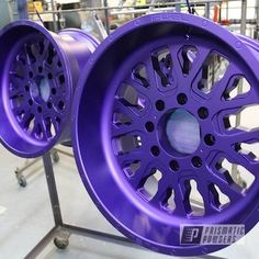 This project was done using Illusion Purple and Casper Clear powder coating. Prismatic Powders, the world's largest selection of custom powder coating colors and is powder coating's creative outlet. Turbo Intercooler, Truck Rims, Life Hackers, Metal Barrel, Ral Colours, Forged Wheels, Car Restoration, Ceramic Coating, Custom Wheels