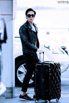 JinWoo in leather