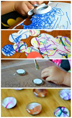 Create a personalized kid made gift by recycling old artwork!