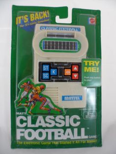 Mattel-Classic-Football-Hand-Held-Game-Retro-Repro-New-In-Package-Unopened