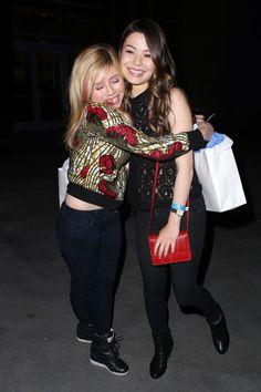 Miranda Cosgrove Jennette McCurdy Photos: Miranda Cosgrove and Jennette McCurdy at the Bruno Mars Concert