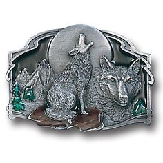 """Checkout our #LicensedGear products FREE SHIPPING + 10% OFF Coupon Code """"Official"""" Howling Wolf Enameled Belt Buckle - Officially licensed Siskiyou Originals product Fully cast, metal buckle Bail fits belts up to 2 inches wide Exceptional detail with an enameled finish  - Price: $21.00. Buy now at https://officiallylicensedgear.com/howling-wolf-enameled-belt-buckle-j85e"""