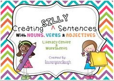 Silly Sentences - Writing Sentences with Nouns, Verbs and Adjectives Writing Complete Sentences, Writing Sentences, Silly Sentences, Sentence Writing, School Fun, School Ideas, English Adjectives, 2nd Grade Writing, Grammar Skills