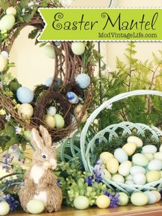 My Easter Mantel at ModVintageLife.com